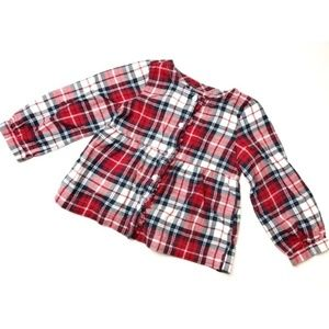 Baby Gap • Red Plaid Peplum Top • Holiday/Fall